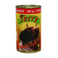 Джери консерва за куче 1100 гр + 200 гр гратис