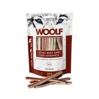 WOOLF LONG BEEF and COD SANDWICH – Ленти с телешко и морска треска 100 гр