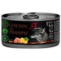 Alpha Spirit Complete wet dog food – консерви с мокра храна с 92% месо и 4% плодове, 150г пилешко