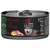 Alpha Spirit Complete wet dog food – консерви с мокра храна с 92% месо и 4% плодове, 150г агнешко