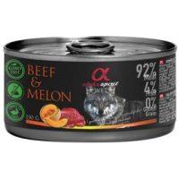 Alpha Spirit Complete wet dog food – консерви с мокра храна с 92% месо и 4% плодове, 150г телешко
