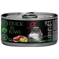 Alpha Spirit Complete wet dog food – консерви с мокра храна с 92% месо и 4% плодове, 150г патица