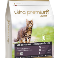 Ultra Premium Direct Adult cat outdoor (& Kitten) – Суха храна за пораснали котки и котенца, отглеждани навън, без зърно, 70% месо и месни съставки, 7 кг