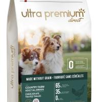 Ultra Premium Direct Country farm Adult all breeds – суха храна за пораснали кучета от всички породи, без зърно, 65% месо и месни съставки, 12 кг