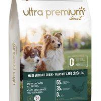 Ultra Premium Direct Puppy growth all breeds – суха храна за подрастващи кученца от всички породи, без зърно, 65% месо и месни съставки, 12 кг