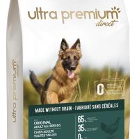 Ultra Premium Direct Original Adult all breeds – суха храна за пораснали кучета от всички породи, без зърно, 65% месо и месни съставки, 12 кг