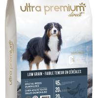 Ultra Premium Direct Adult salmon&rice all breeds – суха храна за пораснали кучета, с ниско съдържание на зърно, сьомга с ориз, 45% месо и месни съставки, 12 кг