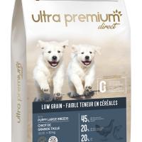 Ultra Premium Direct Puppy large breeds – суха храна за подрастващи кученца от едри породи, с ниско съдържание на зърно, 45% месо и месни съставки, 12 кг