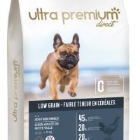 Ultra Premium Direct Аdult mini breeds – суха храна за пораснали кучета от мини породи, с ниско съдържание на зърно, 45% месо и месни съставки, 12 кг