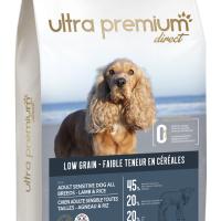 Ultra Premium Direct Adult sensitive all breeds lamb&rice – суха храна за пораснали чувствителни кучета, агнешко с ориз, с ниско съдържание на зърно, 45% месо и месни съставки, 12 кг