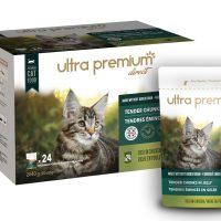 Ultra Premium Direct Tender chunks in gelly rich in chicken for kitten, suitable for adult cats- Мокра храна за котенца, подходяща за пораснали котки с парченца пиле в желе сос, без зърно; 0,0850 кг