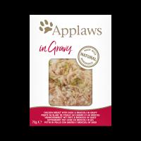 Applaws Chicken breast with duck & brocolli in gravy – пауч с пиле, патица и броколи в сос грейви 70г