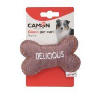Забавна играчка от плат за кучета във формата на кокал 10,5см.