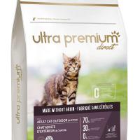 Ultra Premium Direct Adult cat outdoor (& Kitten) – Суха храна за пораснали котки и котенца, отглеждани навън, без зърно, 70% месо и месни съставки, 3 кг