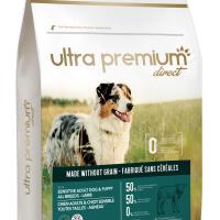 Ultra Premium Direct Sensitive adult dog&puppy all breeds Lamb – суха храна за кученца и пораснали чувствителни кучета от всички породи, без зърно, 50% месо и месни съставки, 4 кг