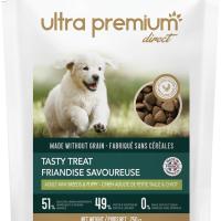Ultra Premium Direct Tasty treat adult mini breeds and puppy – лакомство за пораснали кучета от малки породи и подраставащи кученца, без зърно, 51% месо и месни съставки, 0,250 кг