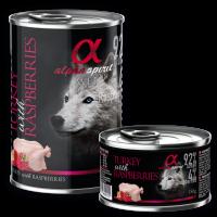 Alpha Spirit Complete WET Dog Food,Turkey with Raspberries – Пълноценна мека храна с Пуйка с Малини 400 гр.