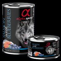 Alpha Spirit Complete WET Dog Food, Salmon with Blueberries – Пълноценна мека храна със сьомга и боровинки 400 гр