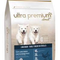 Ultra Premium Direct Puppy large breeds – суха храна за подрастващи кученца от едри породи, с ниско съдържание на зърно, 45% месо и месни съставки, 4 кг