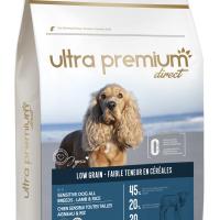 Ultra Premium Direct Adult sensitive all breeds lamb&rice – суха храна за пораснали чувствителни кучета от всички породи, агнешко с ориз, 45% месо и месни съставки, 4 кг