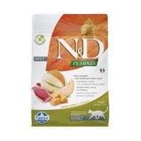 N&D CAT ADULT PUMPKIN -коте ,тиква с патица и пъпеш 5 кг
