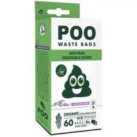 M-Pets POO BIO Dog Waste Bags 60 bags, Lavender – 100% биоразградими пликчета, 4 ролки х15 торбички