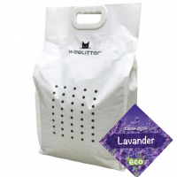 WeeLitter – Биоразградима соева котешка тоалетна – Лавандула 18 l