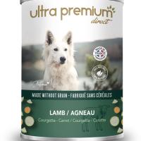 Ultra Premium Direct Тerrine Lamb, courgette&carrot – месен терин с агнешко, тиквичка и морков, без зърно, 60% месо и месни съставки, 0,400 кг