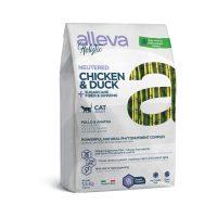 Alleva® Holistic (Adult Cat) Chicken & Duck + Sugarcane fiber & Aloe vera Neutered 10kg