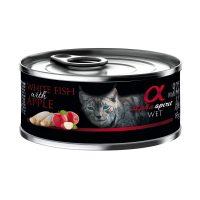 Alpha Spirit Complete Cat Wet food – консерва за котки БЯЛА РИБА и ЯБЪЛКА 85г