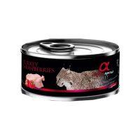 Alpha Spirit Complete Cat Wet food Turkey with Raspberries – консерва за котки ПУЙКА и МАЛИНИ 85г