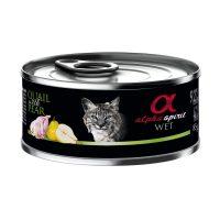 Alpha Spirit Complete Cat Wet food – консерва за котки ПЪДПЪДЪК и КРУШИ 85г