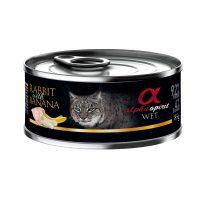 Alpha Spirit Complete Cat Wet food – консерва за котки ЗАЕК и БАНАН 85г
