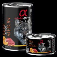 Alpha Spirit Complete WET Dog Food, Beef with Melon – Пълноценна мека храна с Телешко и Пъпеш 400г