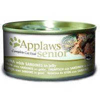 Applaws Senior Tin in Jelly with Tuna and Sardine – Месни хапки за възрастни котки с риба тон и сардини в желе 70г