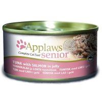 Арplaws Senior Tin in Jelly with Tuna and Salmon – Месни хапки за възрастни котки с риба тон и сьомга в желе 70г