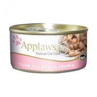 Applaws Tuna Fillet with Prawn in broth – Месни хапки риба тон със скариди в бульон 156 гр