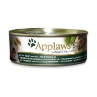 Applaws Chicken, Beef liver & Vegetable – Месни хапки с пилешко филе, черен дроб и зеленчуци 156г