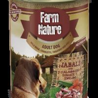 Farm Nature – Консерва за куче с диво прасе, тиквички, домати и копър 400гр