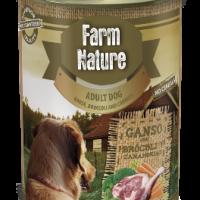 Farm Nature – Консерва за куче с гъше месо, броколи и моркови 400гр