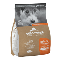 Almo Nature Holistic Maintenance Dog with Tuna and Rice  За израстнали кучета от мини и дребни породи– Риба тон и ориз – 2кг