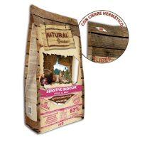 NATURAL Greatness Sensitive Indoor 83% meat – храна подходяща за кастрирани котки, с наднормено тегло или гледани вкъщи, с 83% месо 18 кг