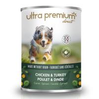 Ultra Premium Direct Terrine Chiken&Turkey, carrot&spinach – месен терин пиле&пуешко с морков и спанак, без зърно, 60% месо и месни съставки, 0,400 кг
