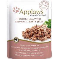 Applaws Tuna Wholemeat with Salmon in Jelly – риба тон и сьомга в желе 70г
