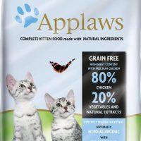 Applaws Kitten Chicken – суха храна за малки котета до 1г. и бременни и кърмещи котки с 80% пиле  – 7,5 кг