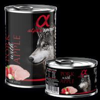 Alpha Spirit Complete WET Dog Food, Pork with Apple – Пълноценна мека храна със Свинско и Ябълка 400 г