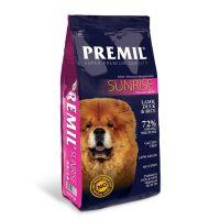 Premil Sunrise 23/14 – с агнешко месо и ориз  Храна за кучета с алергии и чувствителна      храносмилателна система -15кг