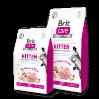 Brit Care Cat Grain-Free KITTEN HEALTHY GROWTH AND DEVELOPMENT -Пълноценна храна за котенца и бременни или кърмещи котки -0,4 кг