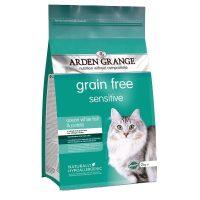 Arden Grange Sensitive – с бяла риба и картофи суха храна за всички породи пораснали котки с особено чувствителни кожи или стомаси или които се нуждаят от диета без житни и зърнени храни – 8 кг