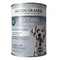 Arden Grange Partners Sensitive – с бяла риба консерва за Кучета с хранителна алергия 395 гр